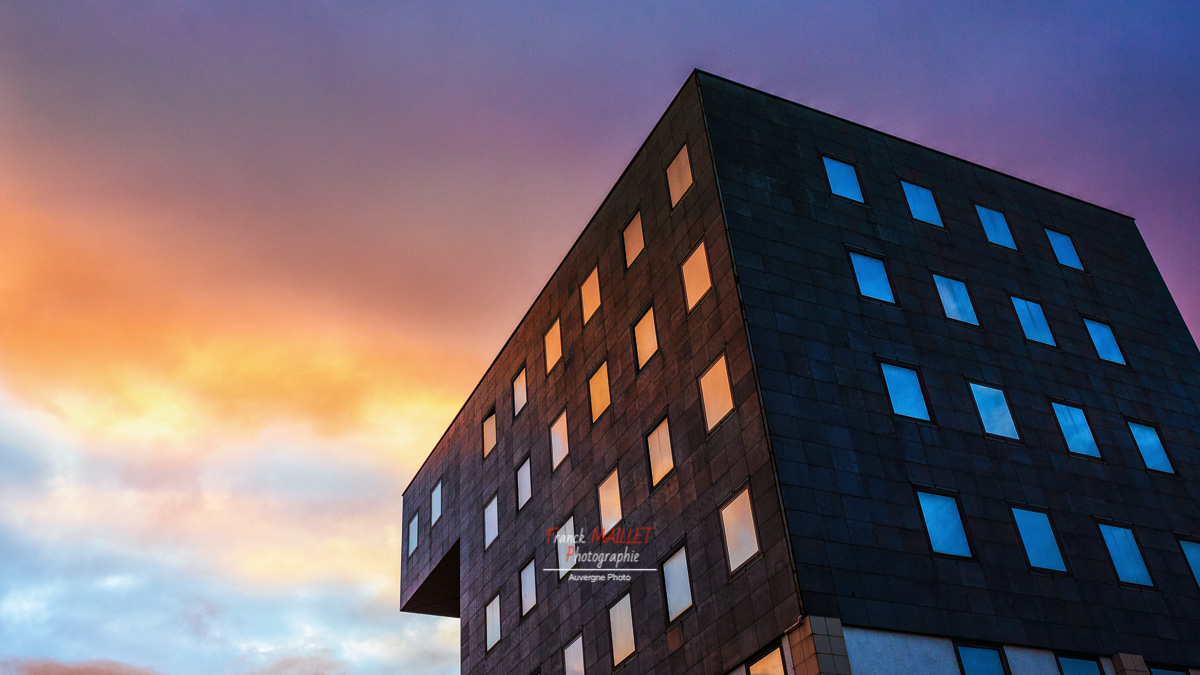 photographie architecture sunset clermont ferrand